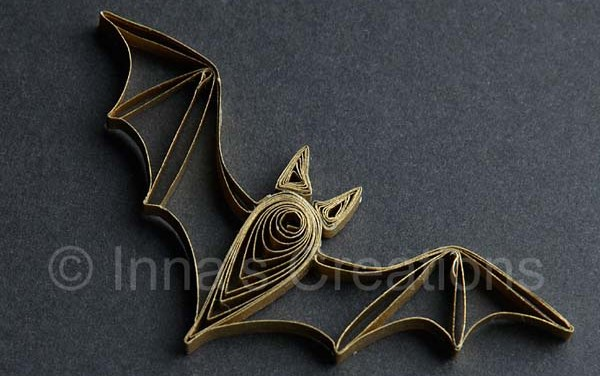 Paper Quilled Husking Bat Pattern
