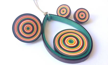 Retro Bullseye Jewelry Set Tutorial