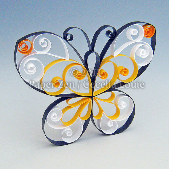 paper quilled butterfly tutorial - Paper Zen