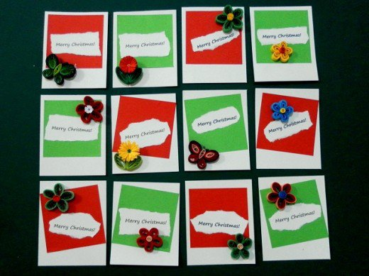 tutorial for making paper quilling Christmas gift tags