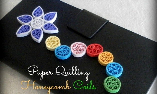 How to Make Cute Little Paper Quilling Honeycomb Circles