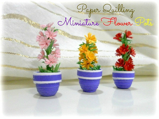 How to make a paper quilling 3D flower pot with flowers