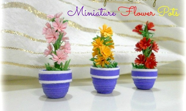 How to make a Paper Quilling 3D Flower Pot