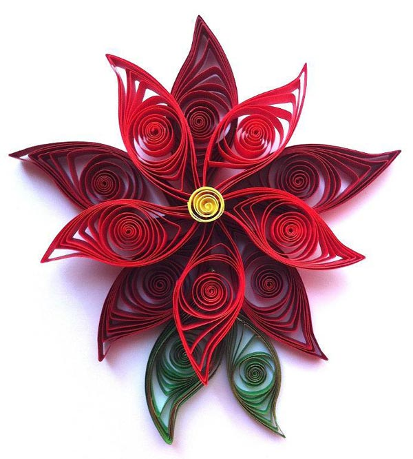 Paper quilled poinsettia flower tutorial paper quilling tutorials paper quilled poinsettia tutorial mightylinksfo