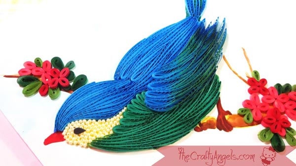 tutorial - use a quilling comb to make a quilled bird