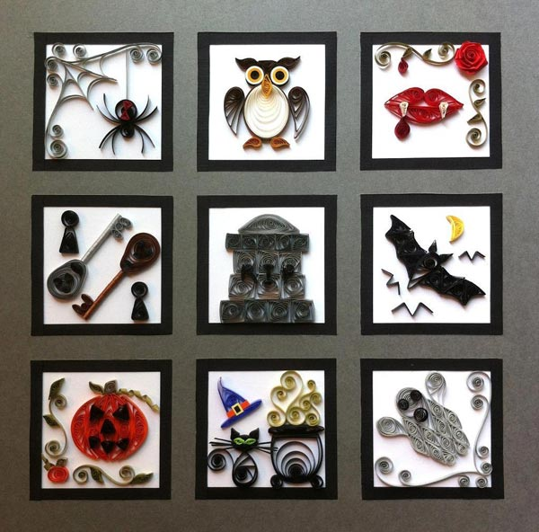 paper quilling halloween sampler tutorial