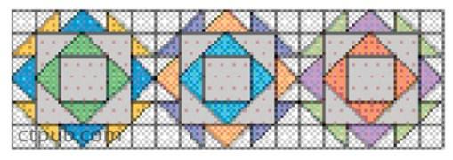 Diamond Block Quilt Pattern