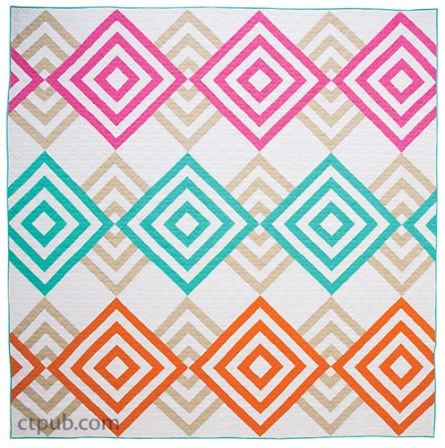Modern Log Cabin Diamond Quilt Pattern