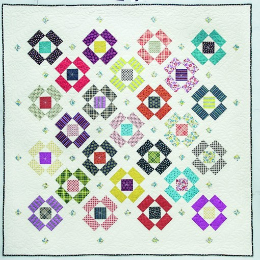 Block Flower Quilt Pattern