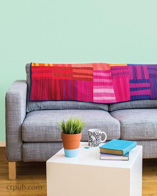 Modern Rainbow Strip Blocks Quilt Pattern