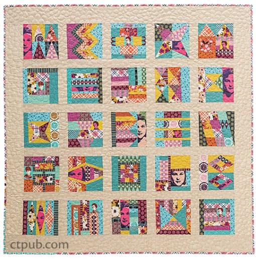 Retro Patchwork Quilt Pattern
