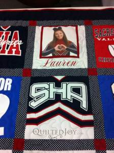 Photo Block t-shirt quilt