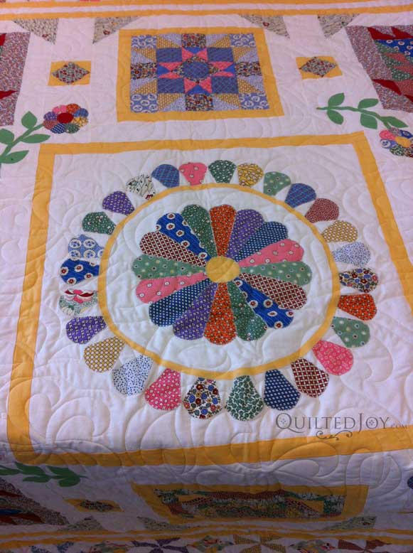 Dresden Plate Quilt Center Block