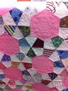 pieced hexagons