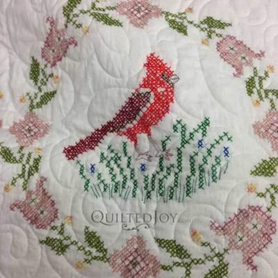 Cross stitch cardinal