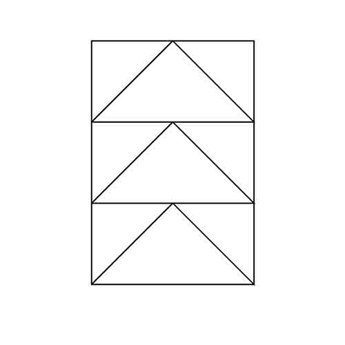 3 Flying Geese Unit Block Outline