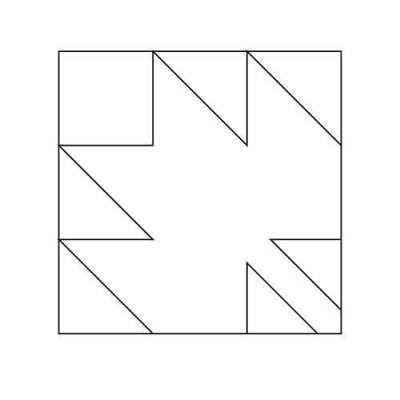 Leaf Block Outline