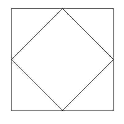 Square in a Square Block Outline