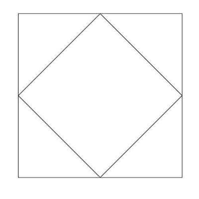 Square in a Square Block Outline