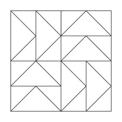 Flying Geese Block Outline