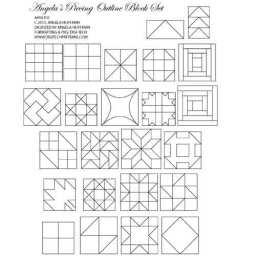 Angela's Piecing Block Outline 24 Piece Set
