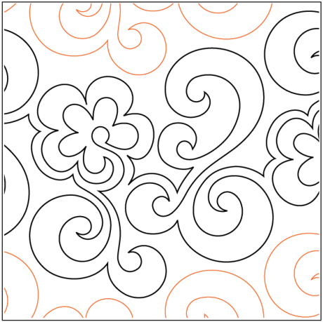 """Chamomile paper pantograph, 11"""" tall. Designed by Denice Schillinger. Available at QuiltedJoy.com"""