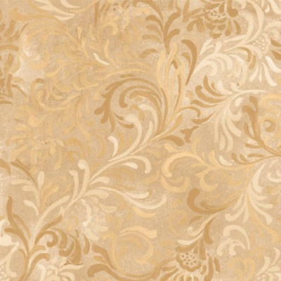 """Flourish in Tan is a 108"""" wide back fabric from South Sea Imports. A beautiful tonal fabric with a classic flourishing print. 100% cotton. Available at QuiltedJoy.com"""