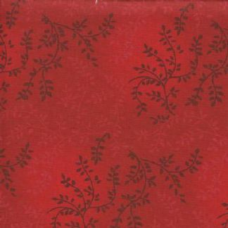 """Tonal Vineyard in Red is a 108"""" wide quilt backing fabric featuring an all over leafy vine pattern. Available at QuiltedJoy.com"""