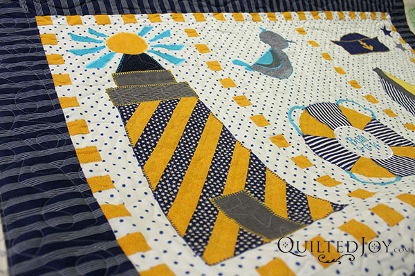 Nautical baby quilt make it coats