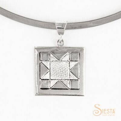 Medium North Star sterling silver pendant by Siesta Silver Jewelry. Available at QuiltedJoy.com