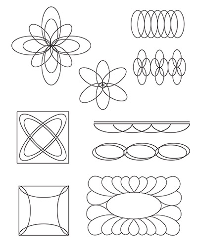 hq oval templates 4 X 4 Printable Template design ideas for using the hq oval c or d templates