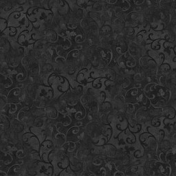 "Wilmington Print's classic Scroll pattern in Black. 108"" wide and 100% cotton. Looks great on the back of a quilt."
