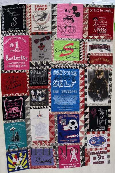 A Heartfelt Gift of a T-Shirt Quilt - : t shirt quilt backing fabric - Adamdwight.com