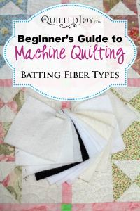 Just as there are many choices when it comes to the fiber type you can choose for your thread, quilt batting comes in a variety of different fibers. You may have encountered 100% cotton batting and 100% polyester batting but there are many other fiber types to play with too. Heck, you can even find Alpaca batting! For this article we are going to talk about the most common types of batting and why you might choose one type over another.