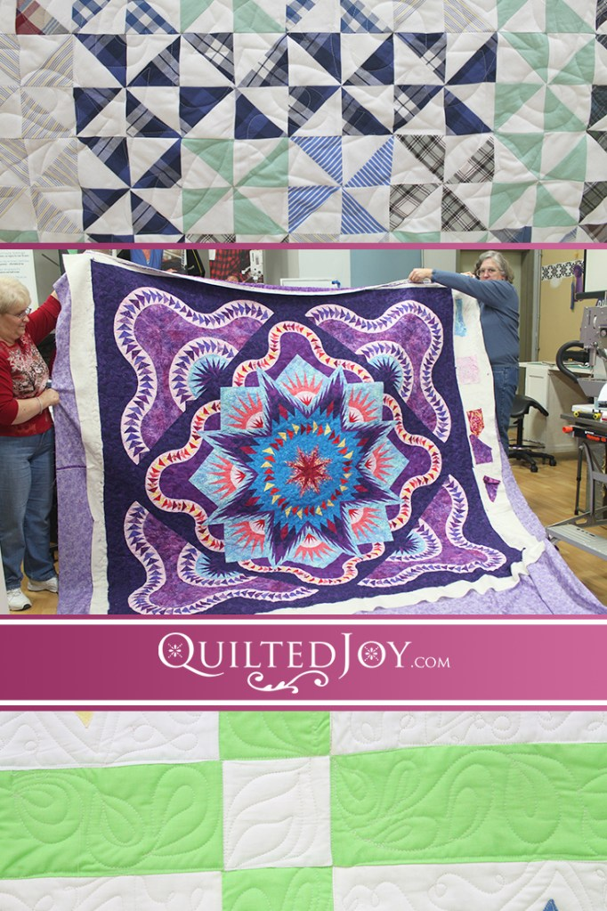 Here are a few more of the amazing quilts our renters have quilted recently here at Quilted Joy. Come and see what they've been up to!