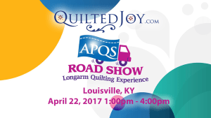 APQS Road Show at Quilted Joy on April 22, 2017