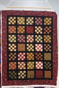 Civil War Reproduction Fabrics 16 Patch Quilt