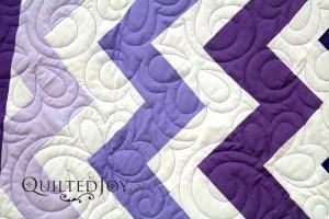 Purple Chevron Quilt
