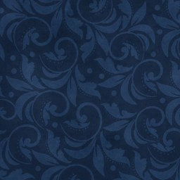 "Vintage Scroll Essential 108"" - Navy Blue"