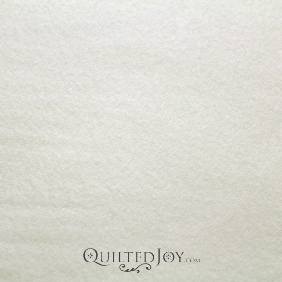 Glacier Solid Ivory Fleece Fabric