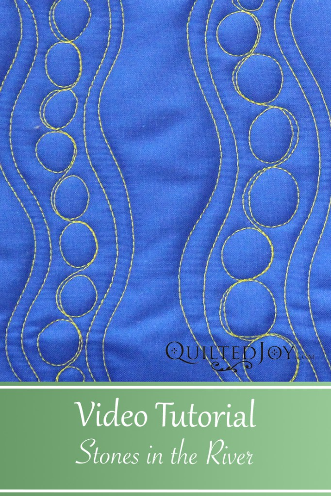 Learn how to quilt the Stones in the River design, a quilt border design inspired by piano keys and bead board.