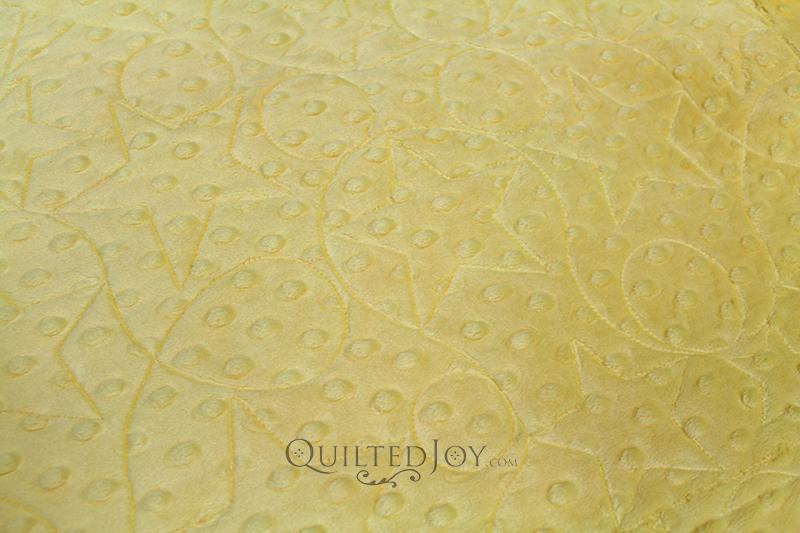 "Shannon 58"" width Cuddle Dot Fabric Sunshine Yellow"