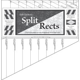 Split Rects quilt piecing ruler by Deb Tucker's Studio 180 Design