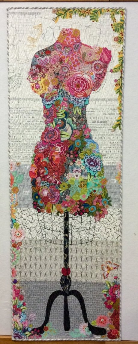 Perfect Form Dress Form Fabric Collage Quilt Pattern by Laura Heine