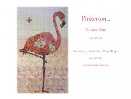 Pinkerton Flamingo Fabric Collage Quilt Pattern by Laura Heine