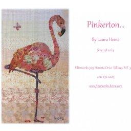 Pinkerton Flamingo Fabric Collage Quilt Pattern by Laura Heine