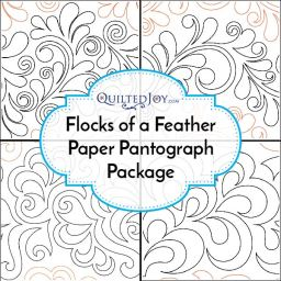 Flocks of a Feather Paper Pantograph Package