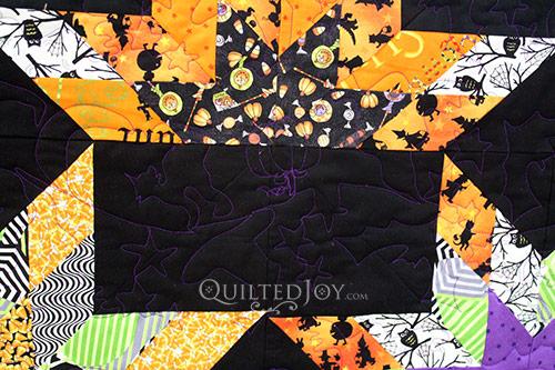 Lone Starburst Halloween Quilt
