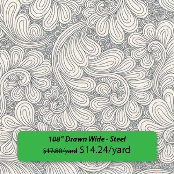 "108"" Drawn Wide - Steel was $17.80 on sale for $14.24"