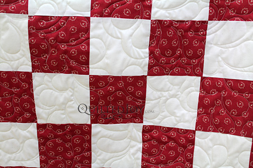 Brenda's Checkerboard Quilt on a Simple Grid